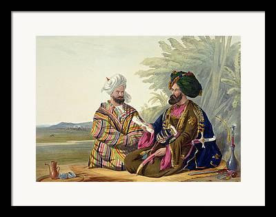 Conversing Drawings Framed Prints
