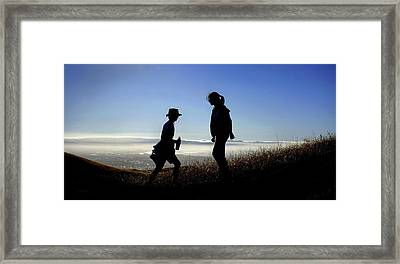 Meet At The Top Of The World Framed Print by Peter Thoeny