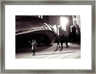 Meet Me At The Bean Framed Print by Lauri Novak