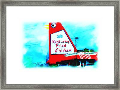 Framed Print featuring the painting Meet Me At The Big Chicken by Ted Azriel