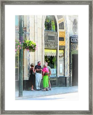 Meet Me At The S And W Framed Print by Susan Savad