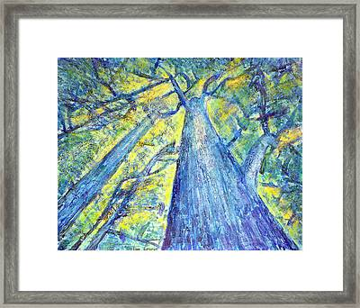 Meet Me By The Tree Framed Print by Tim Leung