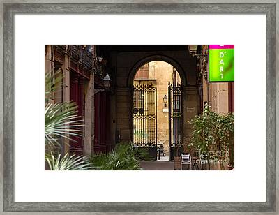 Meet Me For Coffee In The Courtyard Framed Print by Rene Triay Photography