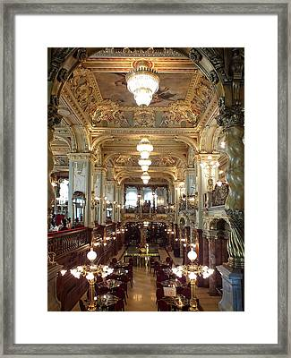 Meet Me For Coffee - New York Cafe - Budapest Framed Print