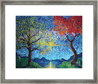 Our Ship Of Dreams Begins To Sail Framed Print
