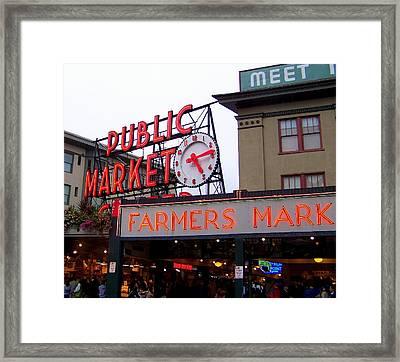 Meet Me In Seattle Framed Print by Karen Wiles