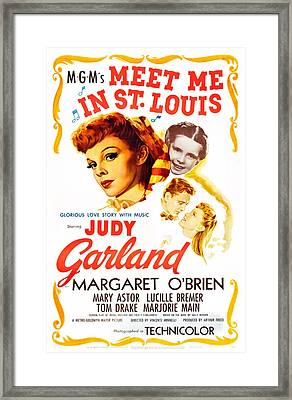 Meet Me In St. Louis, Judy Garland Framed Print by Everett