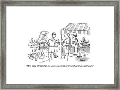 Meet Sally, The Latest In My Seemingly Unending Framed Print