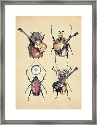 Meet The Beetles Framed Print by Eric Fan