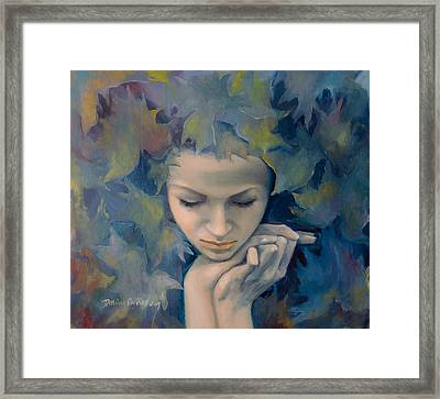 Meet The Fall Framed Print by Dorina  Costras
