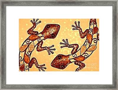 Meet The Geckos Framed Print