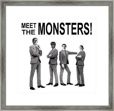 Meet The Monsters Framed Print by Jack Joya
