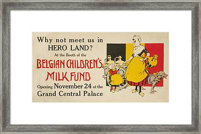 Meet Us In Hero Land Poster Framed Print by Underwood Archives