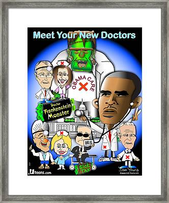 Meet Your New Doctors Framed Print by Dan Youra