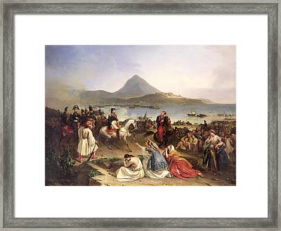Meeting Between General Nicolas Joseph Maison 1771-1840 And Ibrahim Pasha 1789-1848 At Navarino Framed Print by Jean Charles Langlois
