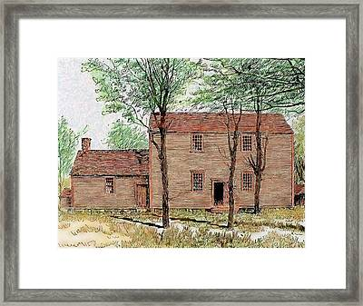 Meeting House Of The Quakers Framed Print by Prisma Archivo