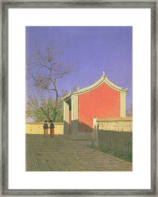 Meeting House Of The Solones, Ak-kent, 1869-70 Oil On Canvas Framed Print by Vasili Vasilievich Vereshchagin