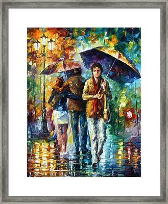 Meeting My Ex Framed Print by Leonid Afremov