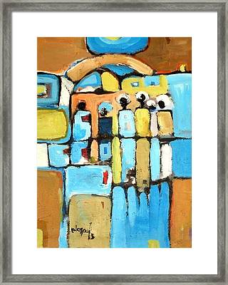 Meeting Framed Print by Negoud Dahab