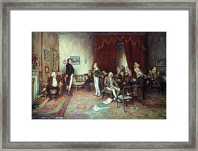 Meeting Of Scott & Burns Framed Print