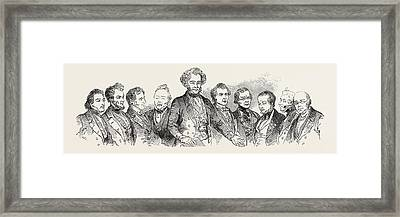 Meeting Of The British Association At Southampton Framed Print
