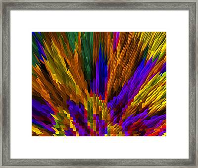 Meeting Of The Colored Pencils Framed Print by James Hammen