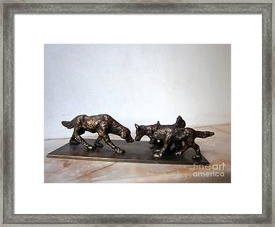 Meeting Of The Dogs Framed Print by Nikola Litchkov