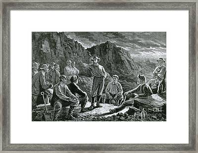 Meeting Of The Molly Maguires, 1874 Framed Print
