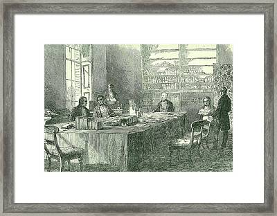 Meeting Of The Uk General Board Of Health Framed Print by Universal History Archive/uig