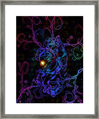 Meeting Of The Vines Framed Print