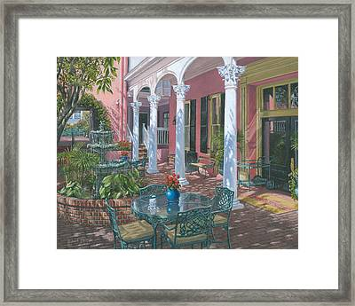 Meeting Street Inn Charleston Framed Print by Richard Harpum