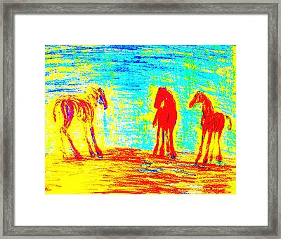 Meeting Them Makes Me Feel So Lonely  Framed Print by Hilde Widerberg