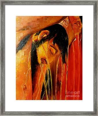 Meeting With His Inner Self Framed Print by Pawankumar Patil