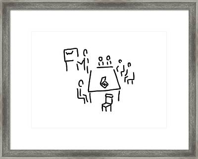 Meeting With Presentation Occupation Framed Print
