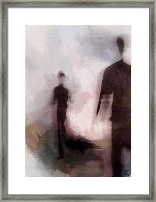 Meeting You Framed Print by Gun Legler