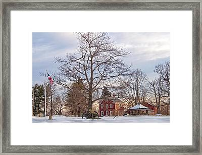 Meetinghouse Hill Framed Print