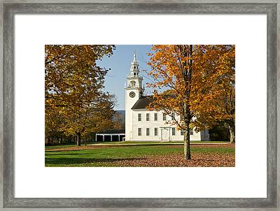 Meetinghouse  Jaffrey Nh Framed Print by Gail Maloney