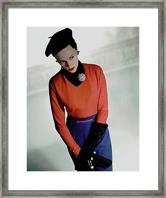 Meg Mundy In Valentina Shirt Framed Print