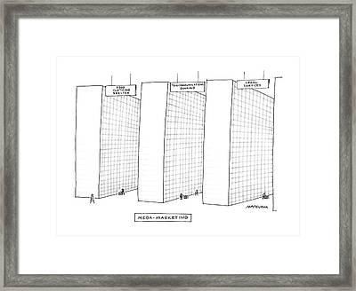 Mega-marketing Framed Print by Mick Stevens