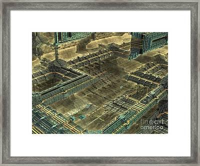 Mega - Metropolitan  Framed Print by Bernard MICHEL