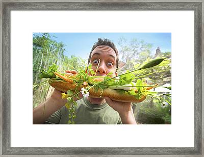 Mega Mouthful   Framed Print by Richard Piper