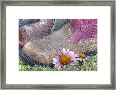 Megaboots Framed Print by Joan Carroll