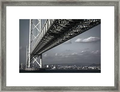 Megabridge Akashi Kaikyo Of Japan Framed Print