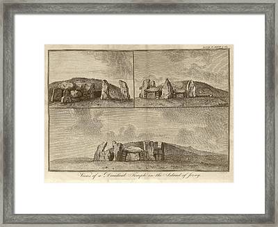 Megalithic Monument Framed Print by Middle Temple Library