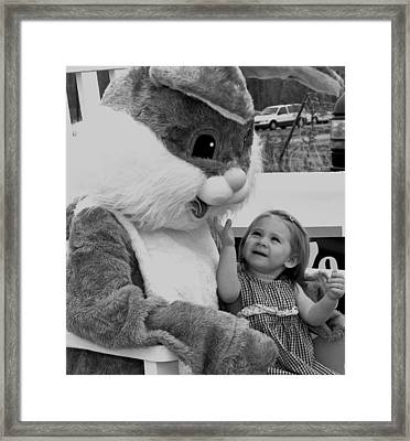 Megan  And Bugs Bunny Framed Print