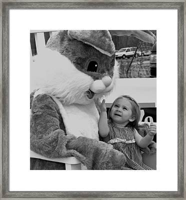 Megan  And Bugs Bunny Framed Print
