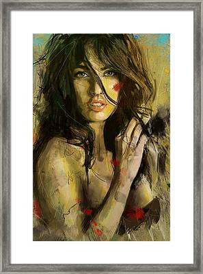 Megan Fox Framed Print by Corporate Art Task Force