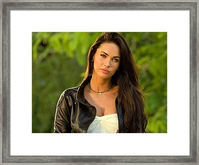 Megan Fox  Framed Print
