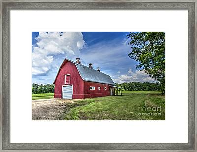 Megan's Barn Framed Print