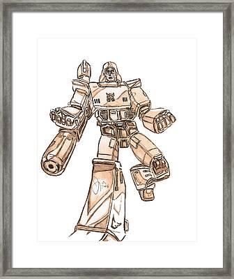 Megatron Framed Print by Brotha Nature